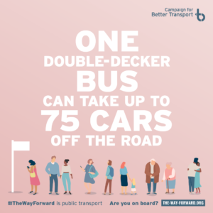 Instagram image with bus statistic