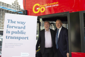 Ed Davey MP with Norman Baker of Campaign for Better Transport